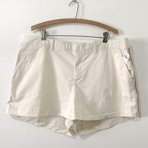 NWT Gap City Light Beige Shorts Embroidery Size 18